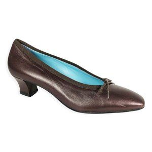 Thierry Rabotin Leather Long Square Toe Pumps